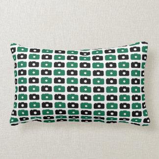 Camera Love Lumbar Pillow (Green and Black)