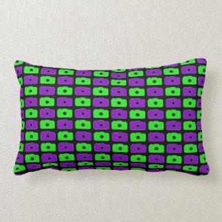 Camera Love Lumbar Pillow (Green and Purple) BLK