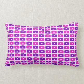Camera Love Lumbar Pillow (Pink & Purple)