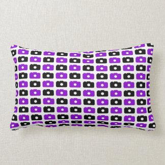 Camera Love Lumbar Pillow (Purple & Black)