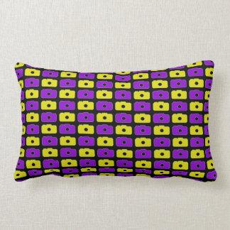 Camera Love Lumbar Pillow (Purple & Yellow) BLK