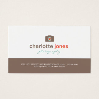 Camera Love Photography Business Cards