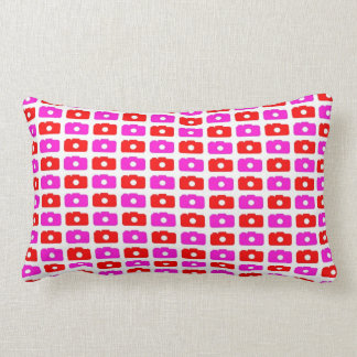 Camera Love (Pink and Red) Throw Pillow