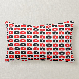 Camera Love (Red & Black) Throw Pillow