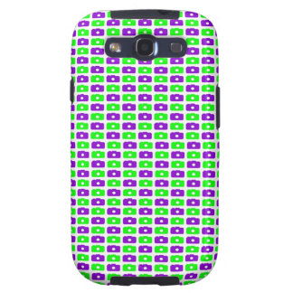 Camera Love Samsung Galaxy S III (Green & Purple) Samsung Galaxy S3 Case