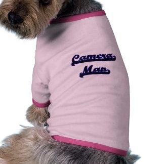 Camera Man Classic Job Design Dog T-shirt