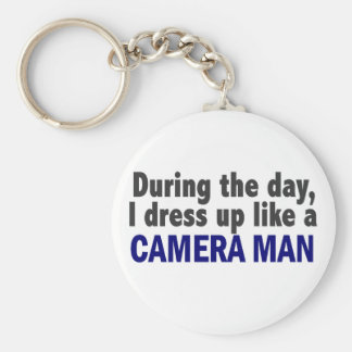 Camera Man During The Day Basic Round Button Keychain