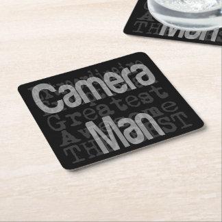 Camera Man Extraordinaire Square Paper Coaster