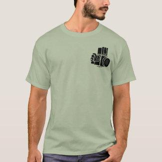 Camera. Man t-shirt