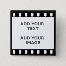 Camera Movie Film Strip Button Badge Name Tag at Zazzle