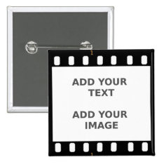 Camera Movie Film Strip Button Badge Name Tag at Zazzle