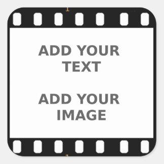Camera Movie Film Strip Name Tag Photo Frame