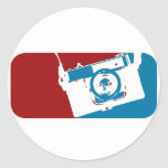 Camera mvp! round sticker
