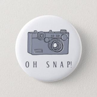 Camera - Oh Snap! | Choose Your Background Color Pinback Button