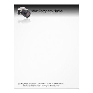 Camera on Black Gradient Background Letterhead