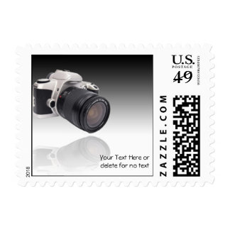 Camera on Black Gradient Background Postage