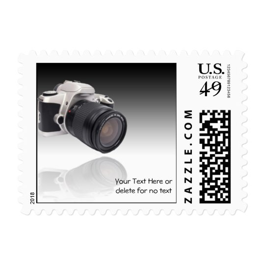 Camera on Black Gradient Background Postage