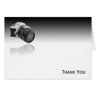 Camera on Black Gradient Stationery Note Card