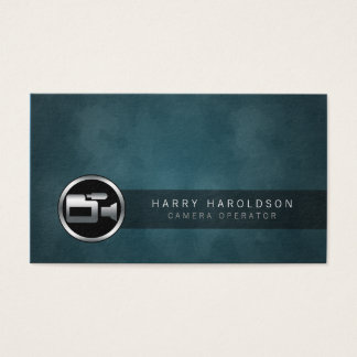Camera Operator Camera Icon Grunge Business Card