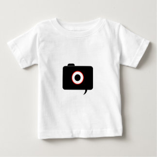Camera- photography icon with speech bubble baby T-Shirt