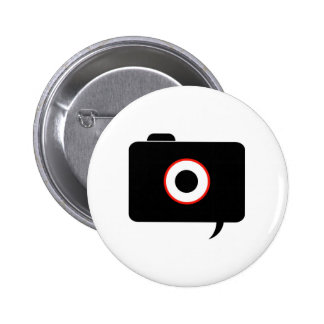 Camera- photography icon with speech bubble button