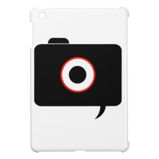 Camera- photography icon with speech bubble cover for the iPad mini