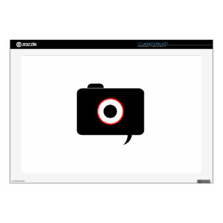 Camera- photography icon with speech bubble decals for laptops