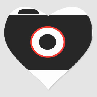 Camera- photography icon with speech bubble heart sticker