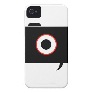 Camera- photography icon with speech bubble iPhone 4 cover
