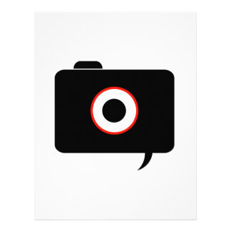 Camera- photography icon with speech bubble letterhead