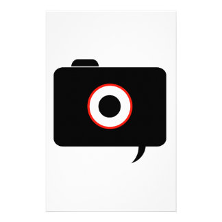 Camera- photography icon with speech bubble stationery