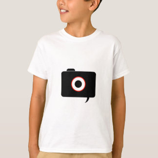 Camera- photography icon with speech bubble T-Shirt
