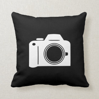 Camera Pictogram Throw Pillow