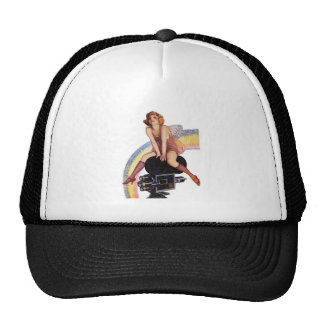 Camera Pose with Bow Trucker Hat
