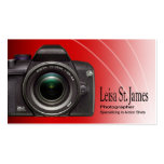 """Camera"" - Professional Photographer, Photography Business Card Templates"