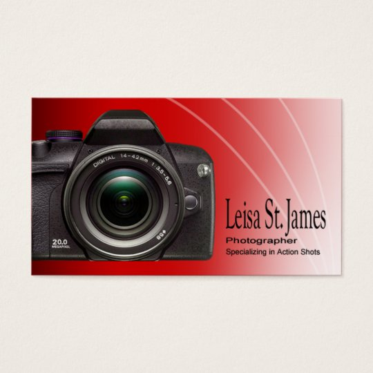 """""""Camera"""" - Professional Photographer, Photography Business Card"""