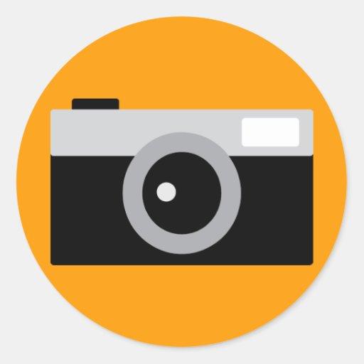 camera round stickers