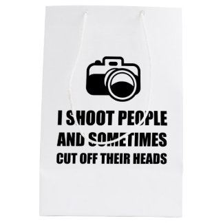 Camera Shoot Cut Head Medium Gift Bag