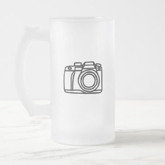 Camera shot frosted glass beer mug