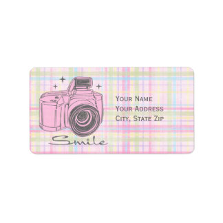 Camera Smile Avery Label