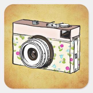 camera square sticker