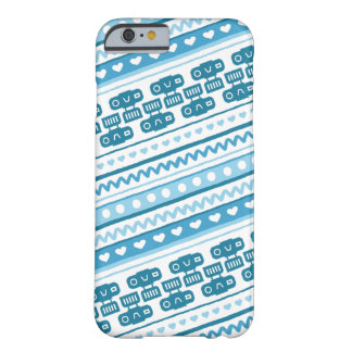 Camera Stripes in Blue Tones Barely There iPhone 6 Case