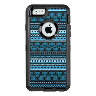 Camera Stripes in Blue Tones OtterBox Defender iPhone Case