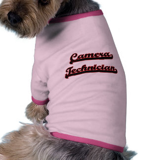 Camera Technician Classic Job Design Pet Clothing