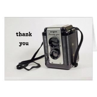 Camera thank you card