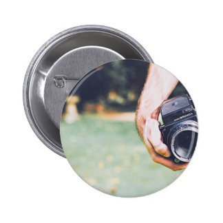 Camera Themed, A Man Holding Digital Camera In His Button