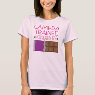Camera Trainee Chocolate Gift for Woman T-Shirt