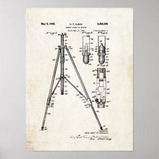 Camera Tripod Patent Print 1942