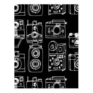 Camera - Vintage Cameras - B&W / Andrea Lauren Postcard