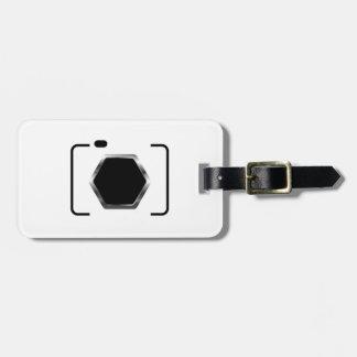 Camera with aperture bag tag